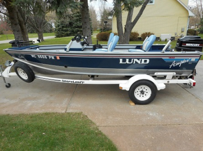 View 1993 lund angler 1600 dlx - Listing #87453
