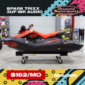 2021 Sea-Doo Spark Trixx 3-up Rotax 900 H.O. ACE IBR & Sound System Three Seater